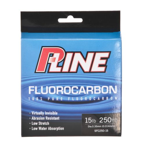 P-Line 15 lb. - 250 yards Fluorocarbon Fishing Line