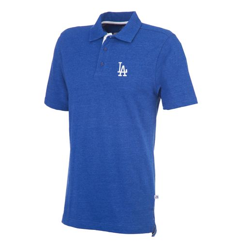 Majestic Men's Los Angeles Dodgers Noble Heathered Polo