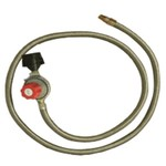 King Kooker® Stainless-Steel Hose and Regulator with Male Pipe Thread and Orifice