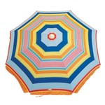 RIO Beach 6' Fashion Umbrella with Tilt and Integrated Sand Anchor