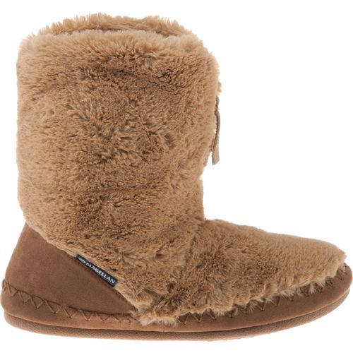 Magellan Outdoors Women's Fuzzy Zip Bootie Slippers