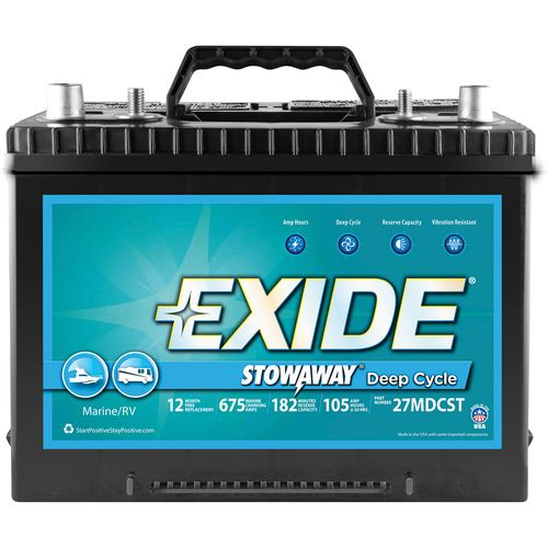 Exide Stowaway Deep-Cycle Marine and RV Battery - view number 1