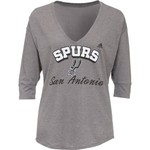 adidas Women's San Antonio Spurs Sparkle Top Slouchy V-neck T-shirt