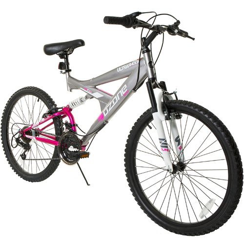 "Ozone 500® Girls' Ultra Shock 24"" 21-Speed Dual-Suspension"