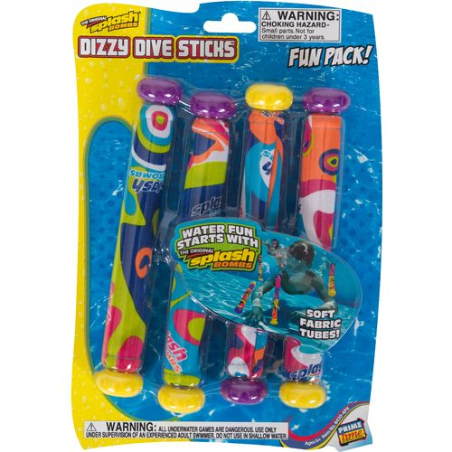 Image for Prime Time Toys Splash Bombs Dizzy Dive Sticks 4-Pack from Academy