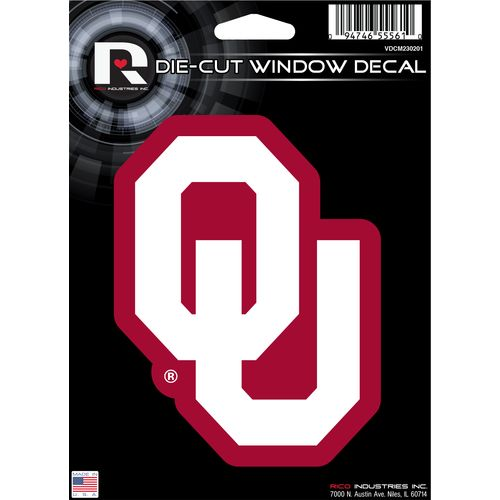Tag Express University of Oklahoma Die-Cut Decal - view number 1
