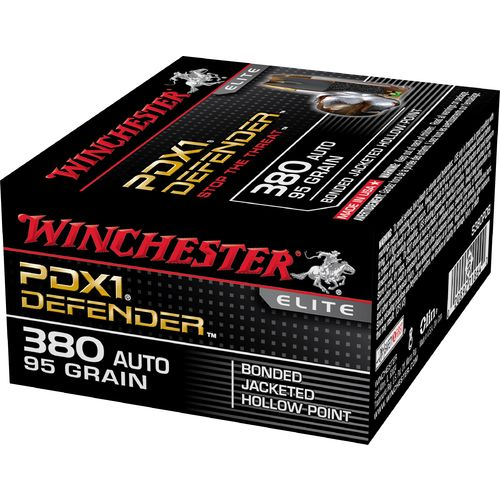 Winchester Supreme Elite PDX1 JHP Bonded .380 Automatic 95-Grain Handgun Ammunition - view number 1
