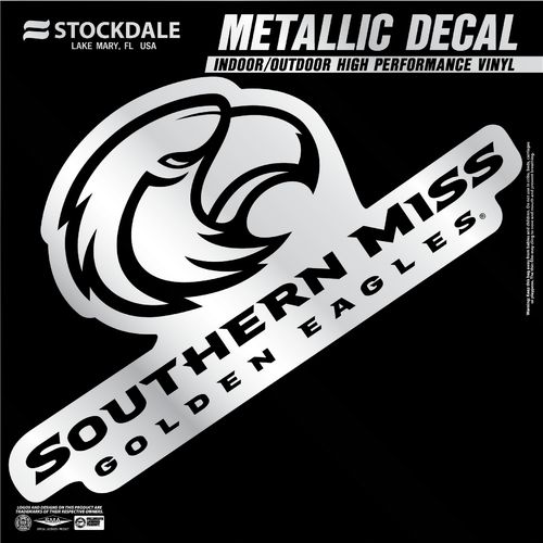 "Stockdale University of Southern Mississippi 6"" x 6"" Metallic Vinyl Die-Cut Decal"