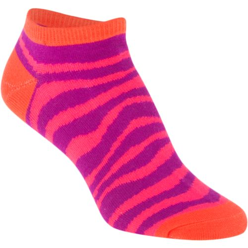 BCG Girls' Bright Animal Print No-Show Socks