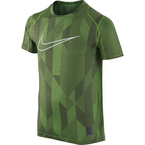 Nike Boys' Cool Allover Print Fitted Short Sleeve