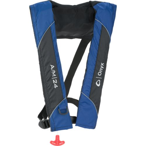 Display product reviews for Onyx Outdoor Adults' A/M 24 Automatic/Manual Inflatable Life Jacket