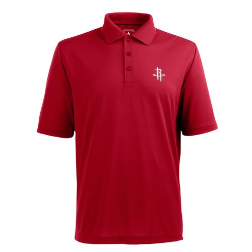 Antigua Men's Houston Rockets Piqué Xtra-Lite Polo Shirt