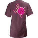 Three Squared Juniors' Texas A&M University Quatrefoil State Monogram T-shirt