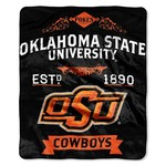 The Northwest Company Oklahoma State University Label Raschel Throw - view number 1