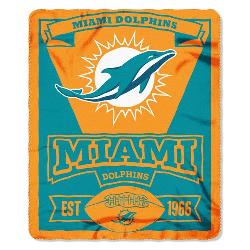 The Northwest Company Miami Dolphins Marquee Fleece Throw