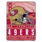 The Northwest Company San Francisco 49ers Stacked Silk Touch Throw