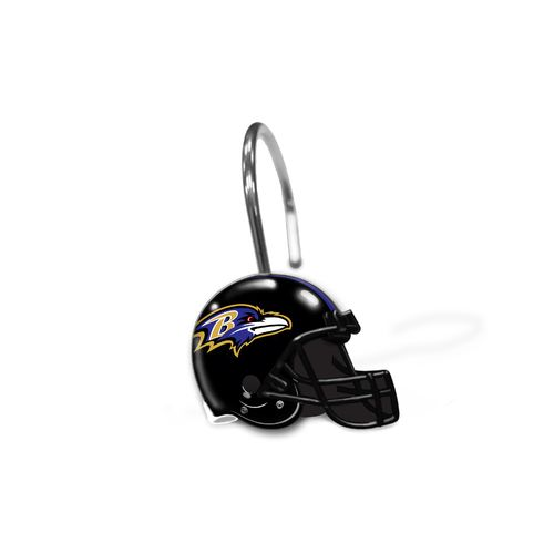 The Northwest Company Baltimore Ravens Shower Curtain Rings
