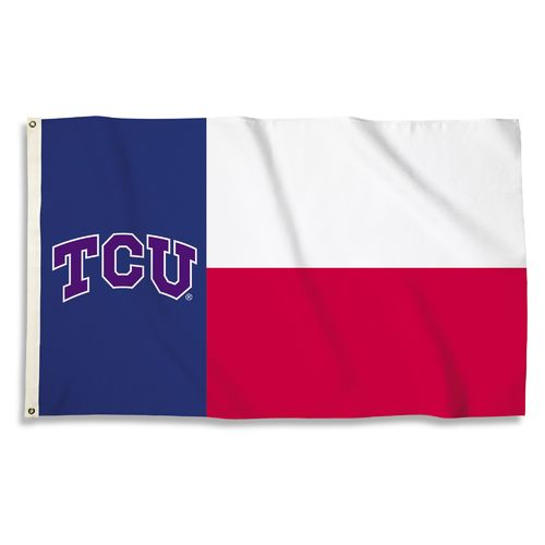 BSI Texas Christian University Texas Motif Flag