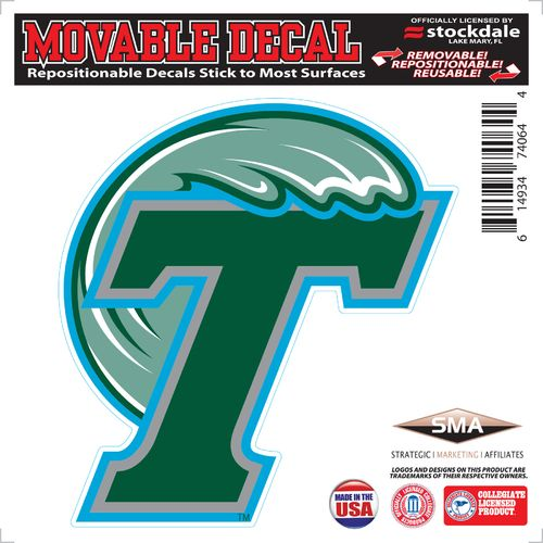 Stockdale Tulane University 6' x 6' Decal