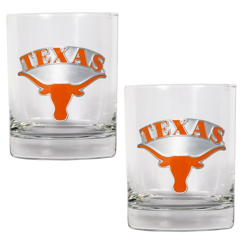 Great American Products University of Texas 14 oz. Rocks Glasses 2-Pack