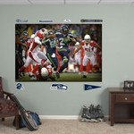 Fathead Seattle Seahawks Marshawn Lynch In Your Face Mural Real Big Wall Decal