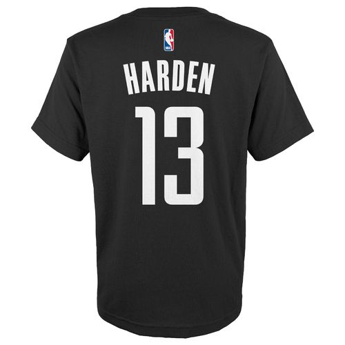 adidas™ Boys' Houston Rockets James Harden #13 Game Time Short Sleeve T-shirt