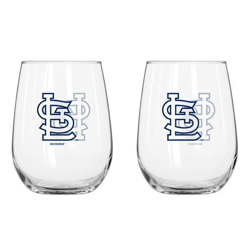 Boelter Brands St. Louis Cardinals 16 oz. Curved Beverage Glasses 2-Pack