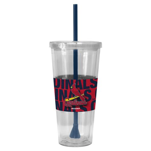 Boelter Brands St. Louis Cardinals Bold Neo Sleeve 22 oz. Straw Tumblers 2-Pack