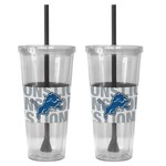 Boelter Brands Detroit Lions Bold Neo Sleeve 22 oz. Straw Tumblers 2-Pack