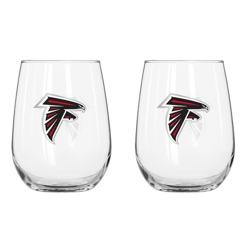 Boelter Brands Atlanta Falcons 16 oz. Curved Beverage Glasses 2-Pack