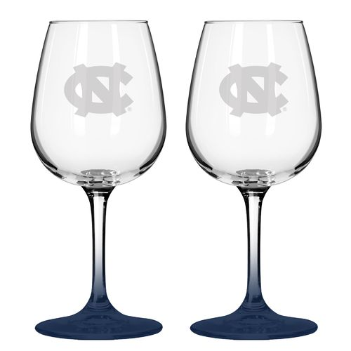 Boelter Brands University of North Carolina 12 oz. Wine Glasses 2-Pack
