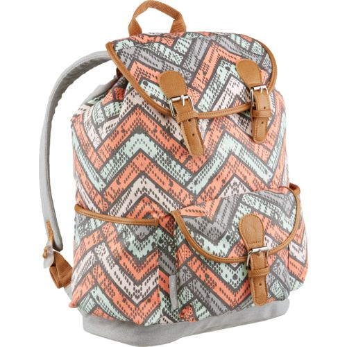 Emma & Chloe Girls' Printed Triple Cotton Drawstring Backpack