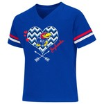 Colosseum Athletics Girls' University of Kansas Football Fan T-shirt