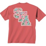 New World Graphics Women's Stephen F. Austin State University Floral T-shirt