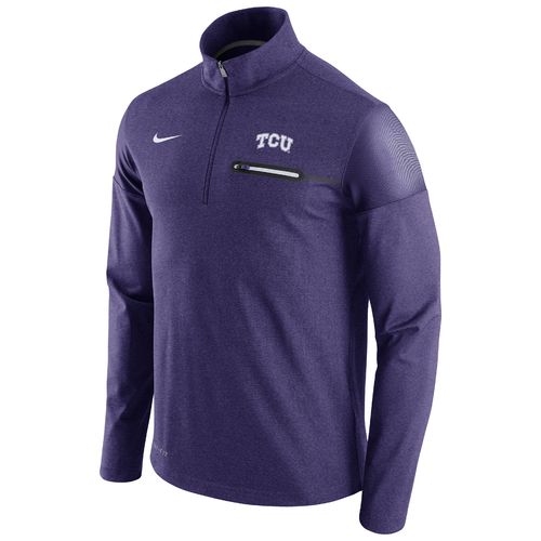 Nike™ Men's Texas Christian University Coaches 1/2 Zip