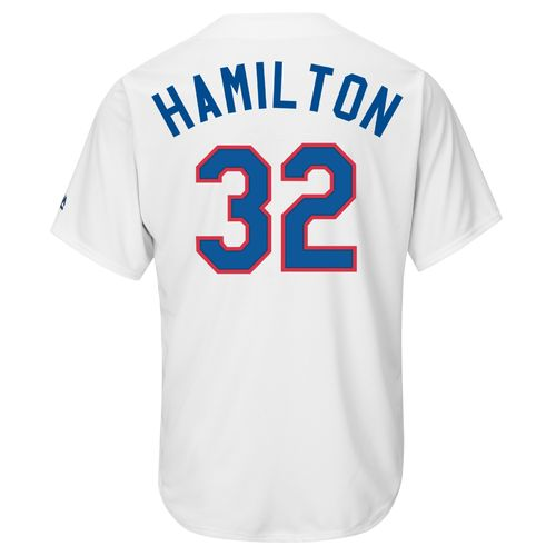 Majestic Men's Texas Rangers Josh Hamilton #32 Cooperstown Cool Base Replica Jersey