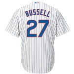 Majestic Men's Chicago Cubs Addison Russell #27 Cool Base Replica Jersey