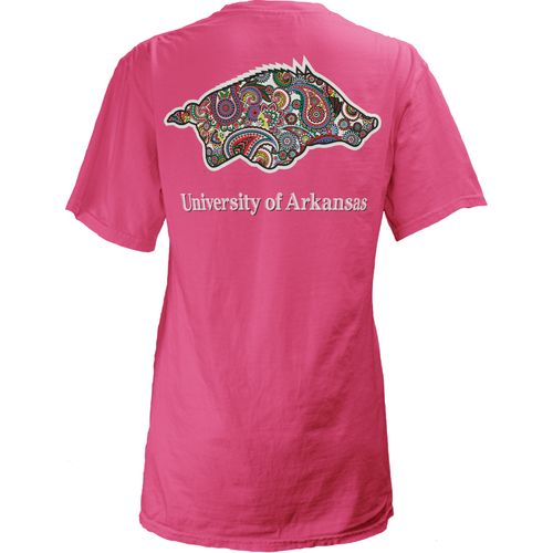 Three Squared Juniors' University of Arkansas Preppy Paisley T-shirt