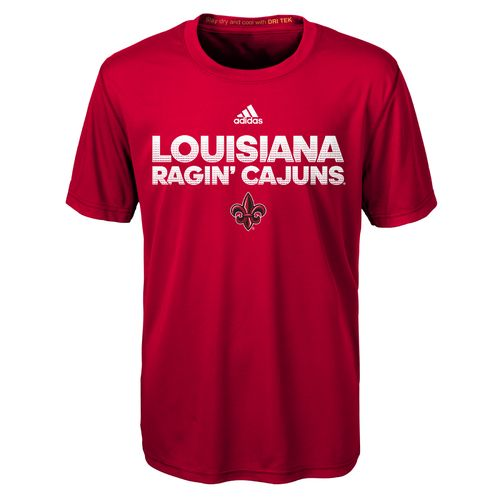 adidas™ Kids' University of Louisiana at Lafayette Sideline Hustle Clima T-shirt