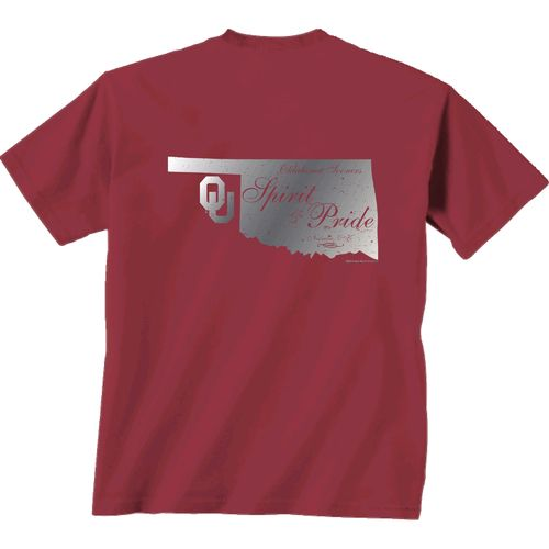 New World Graphics Women's University of Oklahoma Silver State Distress T-shirt