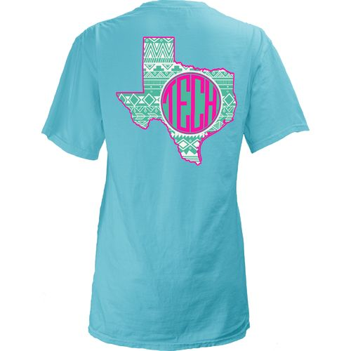 Three Squared Juniors' Texas Tech University Moonface Vee T-shirt