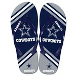 Forever Collectibles™ Kids' Dallas Cowboys Wordmark Stripe Flip-Flops