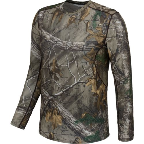 Terramar Men's Stalker Long Sleeve Crew Neck Hunting Shirt