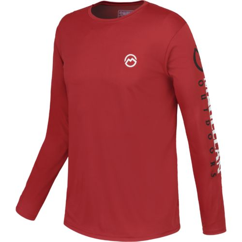 Magellan Outdoors Men's Casting Crew Moisture Management Long Sleeve T-shirt - view number 1