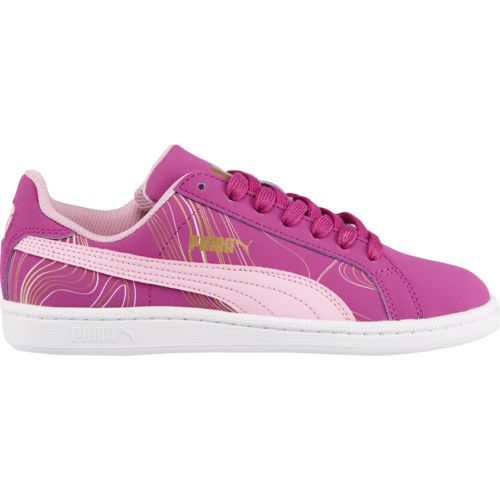 PUMA Girls' Smash Fun Buck Marble JR Shoes