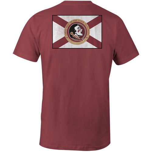 Image One Men's Florida State University State Flag Comfort Color T-shirt