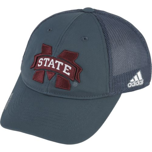 adidas™ Men's Mississippi State University Coach Flex Mesh Back Slope Cap