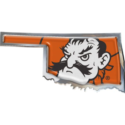 Stockdale Oklahoma State University Chrome State Shape Auto Emblem