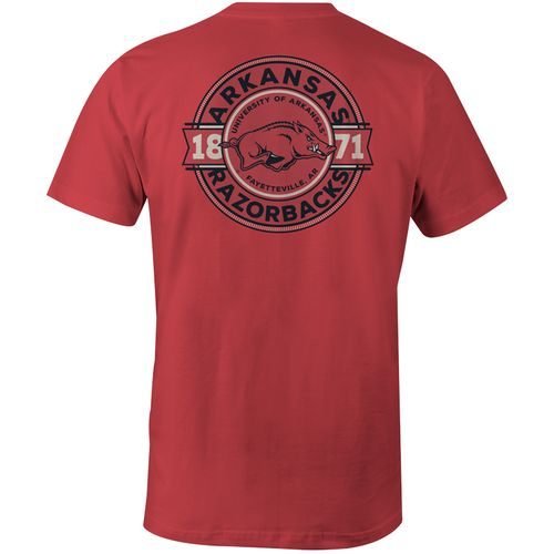 Image One Men's University of Arkansas Rounds Comfort Color Short Sleeve T-shirt