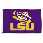 BSI Louisiana State University 3'H x 5'W Tiger Eye Logo Flag